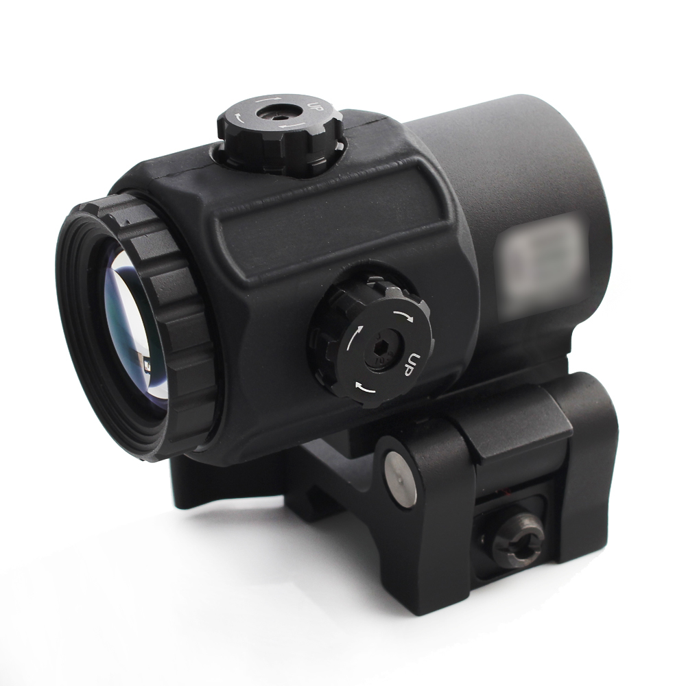 Magorui Tactical G43 3x Magnifier Scope Sight with Switch to Side STS QD Mount Fit for 20mm rail Rifle Gun-2