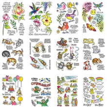 цены Birds Mice Animals And Gnome Sets Clear Stamps Silicone For DIY Scrapbooking Photo Album Card Making Decor From Dog Stamps