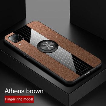 Перейти на Алиэкспресс и купить Чехол для телефона Huawei P40 Lite Nova 7i, чехол с магнитным кольцом-держателем, тканевая мягкая рамка, тканевый чехол-накладка для Huawei P40 Lite, 5G
