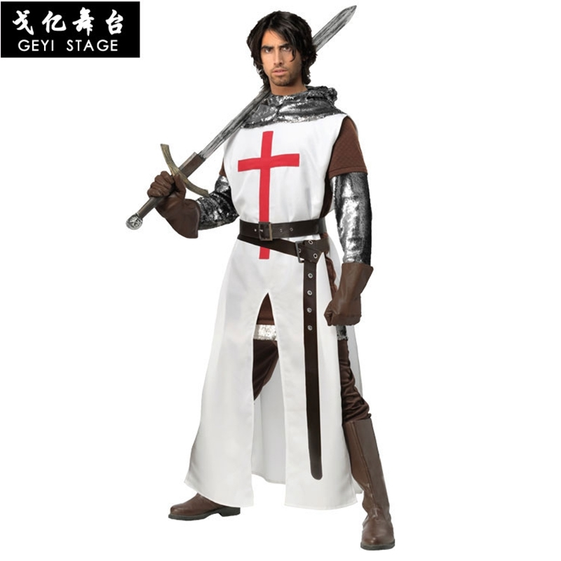 new Hot Sale Anime Halloween Hero Knight/Gladiator warrior Carnival Costume party Cosplay Dress-up Boy Play for men adult