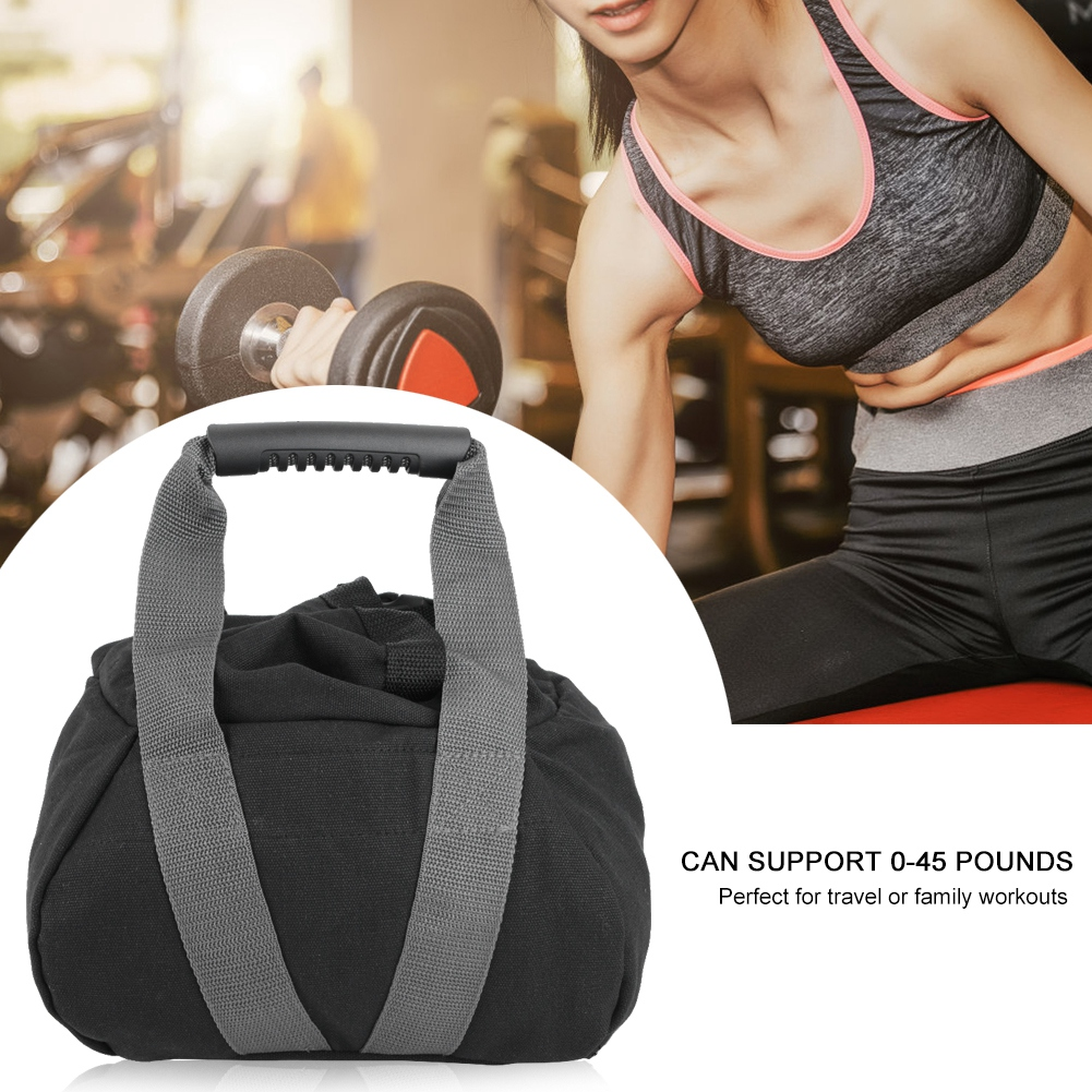 Fitness Weight Sandbag Adjustable Portable Sandbag Soft Sand Weightlifting Sandbag Yoga Dumbbell Fitness Training Bodybuilding