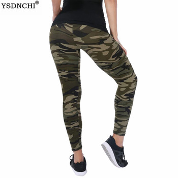 Women Leggings High Elastic Skinny Camouflage Legging Slim Army Green Jegging Fitness Leggins Gym Sport Plus Size Pants 1