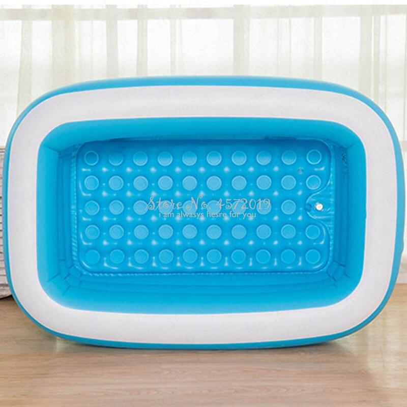Длинная складная надувная ванна для взрослых, толстая пластиковая Ванна, бочка для душа, бытовая Паровая надувная ванна, Детская ванна для н...