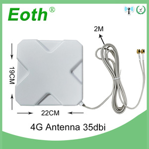 Image 4 - 3G 4G Antenna 35dBi 2m Cable LTE Antena 2 SMA connector for 4G Modem Router Adapter Female to TS9 Male connector Signal zoom