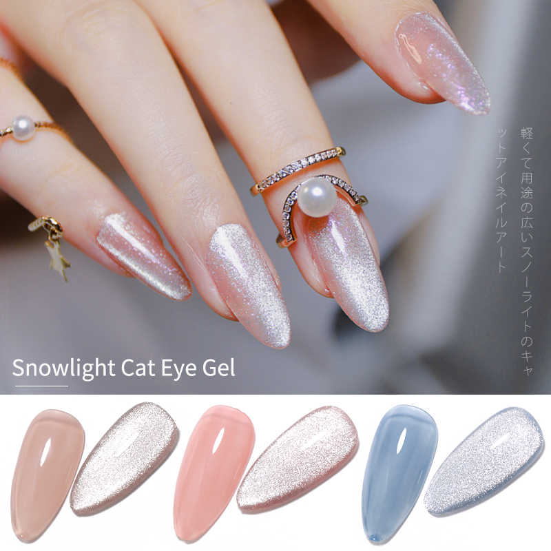 Hnuix 7.3Ml 3D UV Clear Gel DIP Kuku Seni Gel Varnish Manicure Universal Lebar Baru Warna Fototerapi Mata Kucing gel Cat Kuku