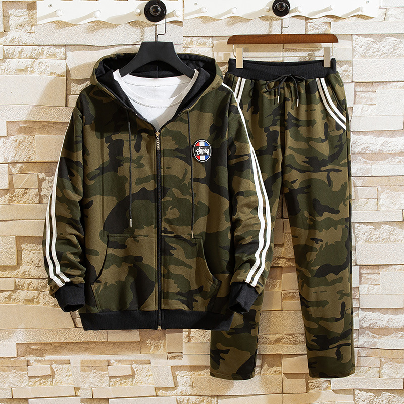 Autumn Teenager Hooded Cardigan Two-Piece Set 13 Students Junior High School High School 15 Fashion Leisure Sports Suit