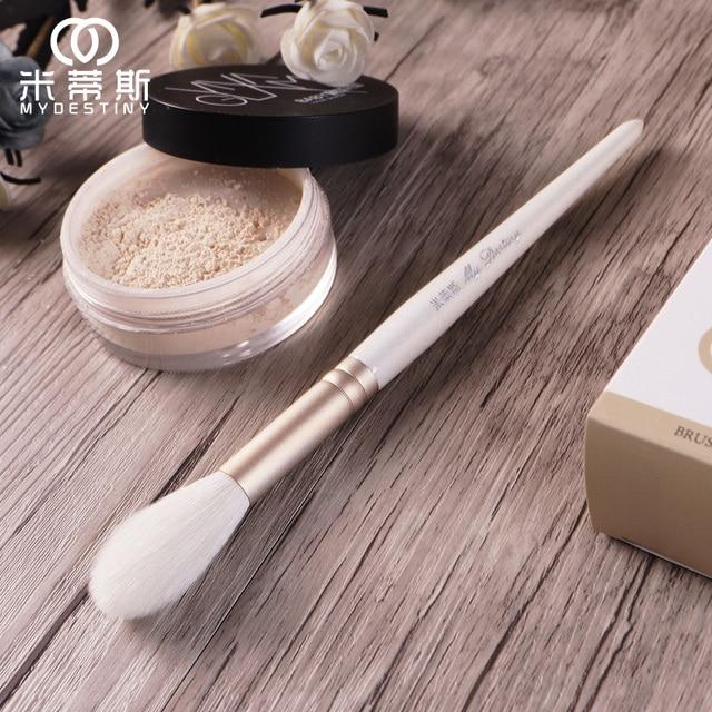 MyDestiny cosmetic brush-The Snow White series-flame shape highlight brush brush-goat hair makeup tools&pens-beauty 1