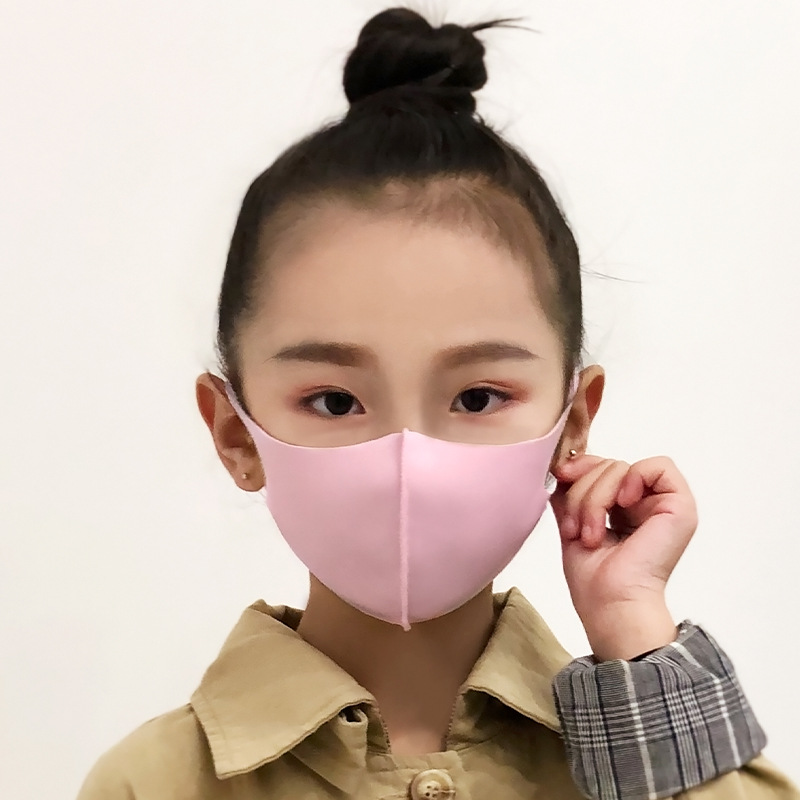 Spring Mask Dustproof Mouth Face Mask Kpop Kids Children Sponge Face Mouth Masks K-pop Antibacterial Breathable Masks Washed