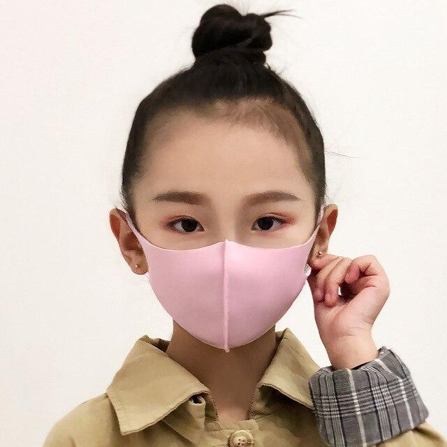 Spring Mask Dustproof Mouth Face Mask Kpop Kids Children Sponge Face Mouth Masks K-pop Antibacterial Breathable Masks Washed