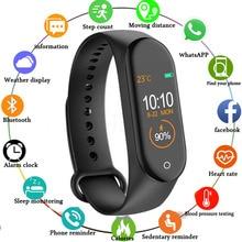 M4 חכם להקת כושר גשש שעון ספורט צמיד לב קצב דם לחץ Smartband צג בריאות צמיד
