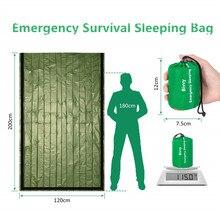 緊急寝袋防水軽量熱bivy袋 サバイバルブランケットバッグポータブルナイロン袋キャンプ、ハイキング