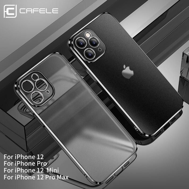 Cafele-funda Original para iPhone 12 Pro Max, borde chapado con cubierta esmerilada, trasera a prueba de golpes 1