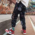 Hip hop Hosen Männer Lose Jogger Hosen mit Print Street Harem Hosen Kleidung Knöchel länge Hosen Harajuku Sport Casual