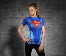 2019 Marvel series Superman Punisher Running Shirt Men women short Sleeve Compression Shirts Gym Fitness Sport cycling