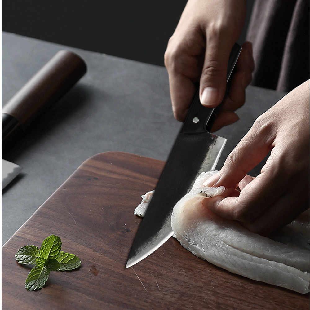 XYj Küche Chef Messer Handgemachte Geschmiedet Hohe Carbon Sharp Stahl Messer Metzger 5,5 ''8'' Hacken Messer Türkei Fisch fleisch Messer