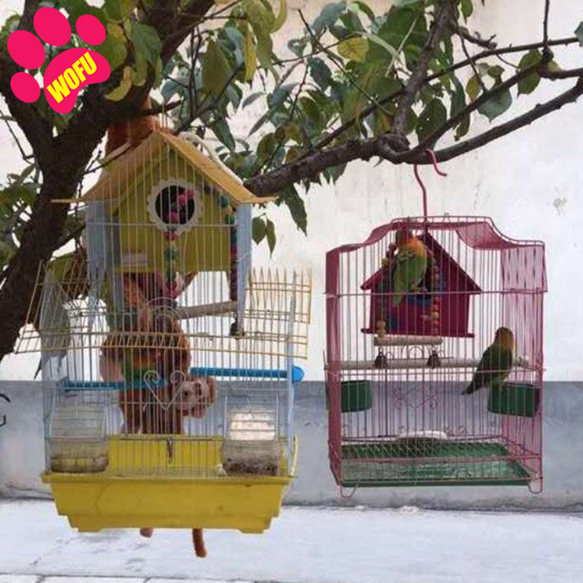 """""""We Love Our Pets"""" Wooden Outdoor Bird Cottage   2"""