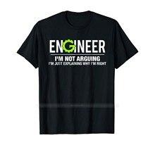 Engenheiro eu não estou argumentando engraçado engenharia camiseta algodão tshirt masculino verão moda camiseta tamanho euro