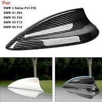 New Car Carbon Fiber Shark Fin Antenna Cover Trim For BMW F20 F21 F45 F46 E84 F48 F49 F26 F15 F16 F86 Antenna Cover Aerials