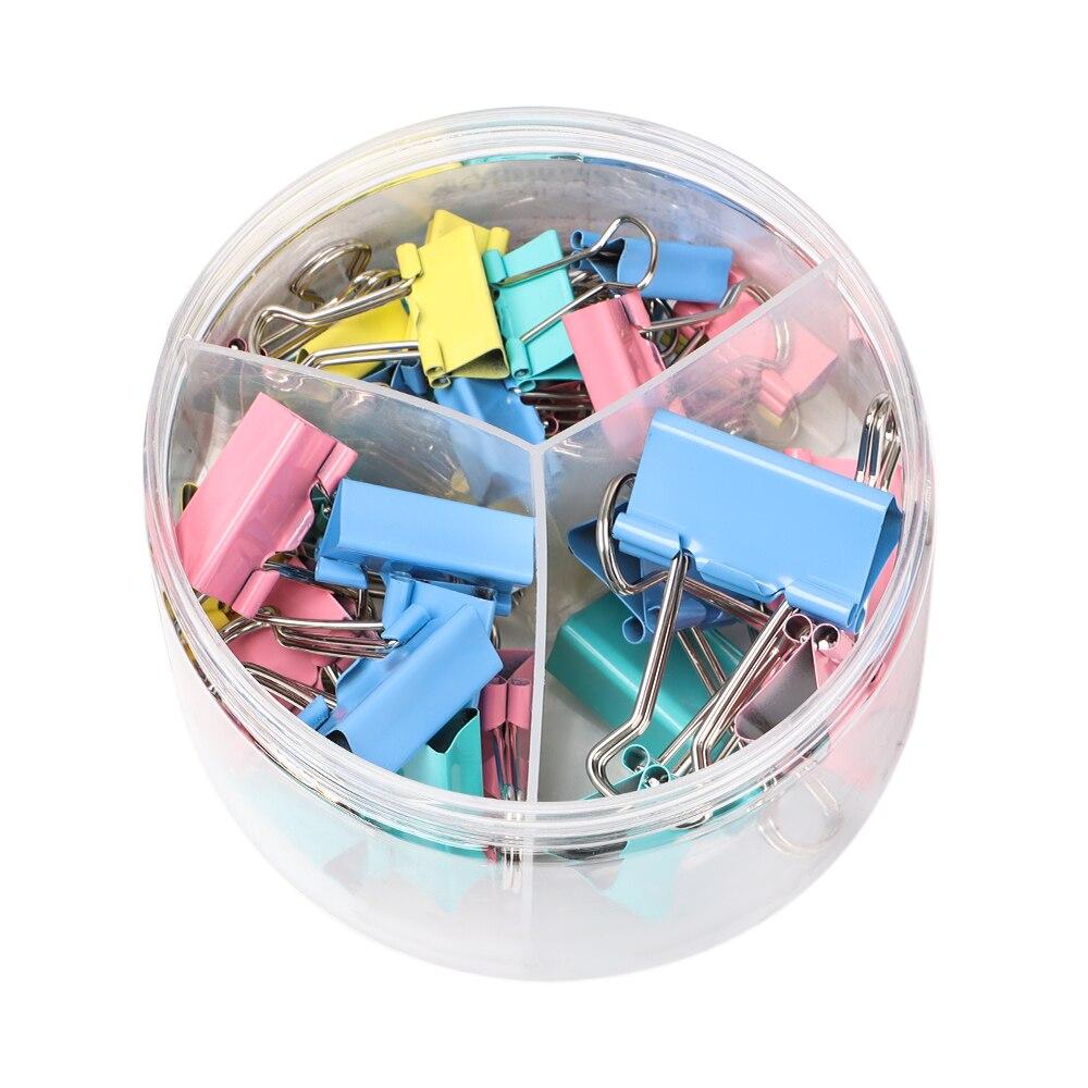 42pcs/set E8556A Multicolor Binder Clip Assorted Sizes Paper Clips Document File Binder School Storage Office Supplies