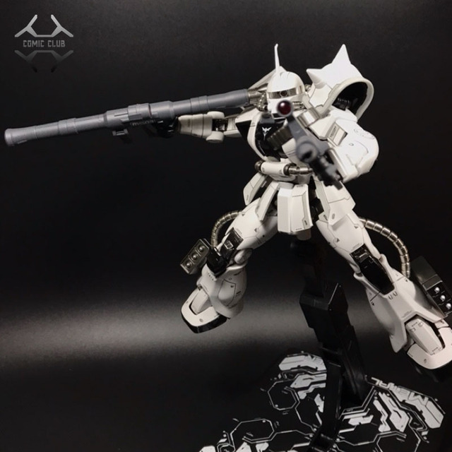 COMIC CLUB IN STOCK MS metal soldier MB 1/100 metal build gundam white wolf zaku II alloy robot high quality action figure