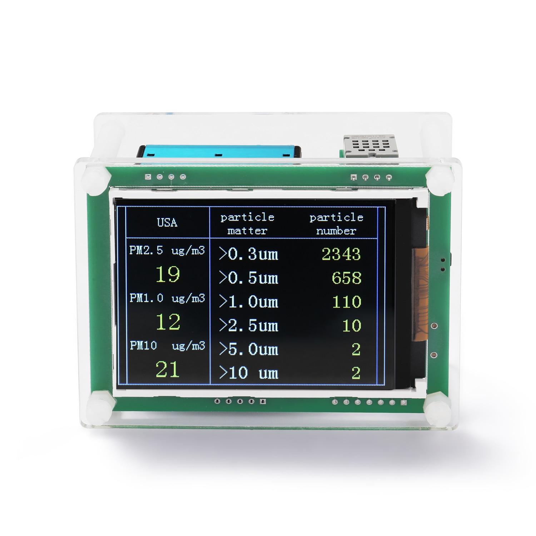 Портативный высокоточный мини-детектор газа PM2.5, монитор качества воздуха, Многофункциональный светодиодный цифровой USB лазерный тестер во...