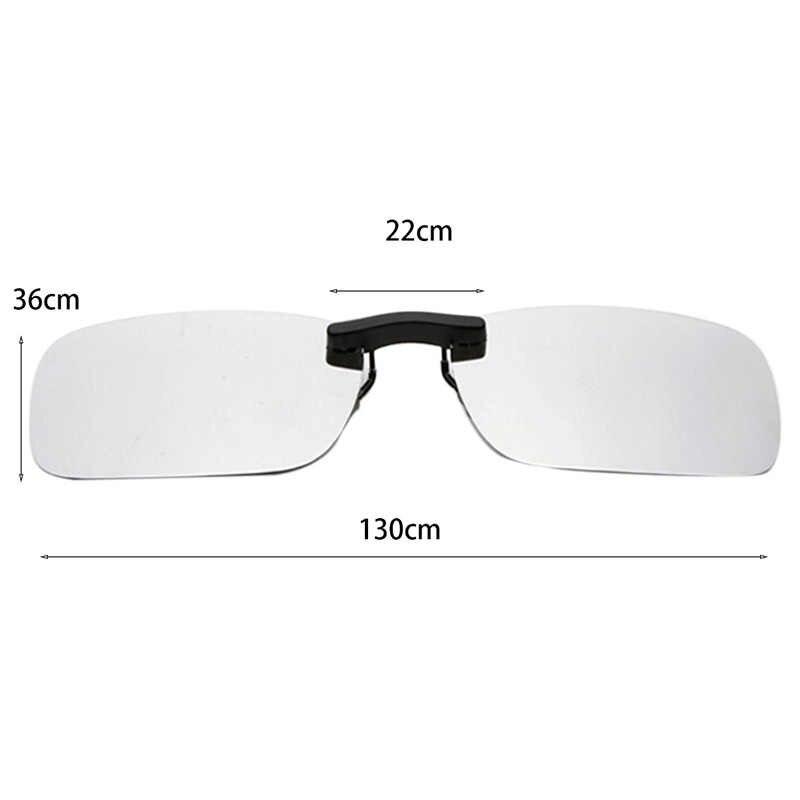 1pc Unisex Clip Polarizzata Sulla Guida Occhiali Occhiali Da Sole di Visione Giorno UV400 Lente di Guida di Visione Notturna di Guida Occhiali Da Sole Clip di