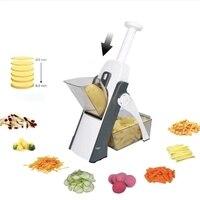 야채 커터 스테인레스 스틸 블레이드 슬라이서 슈레더 과일 필러 감자 치즈 드레인 그레이터 쵸퍼 주방 악세사리 도구