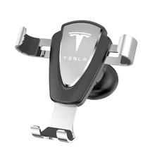 For Tesla model 3 Model S Model X Car logo Phone Holder Grav
