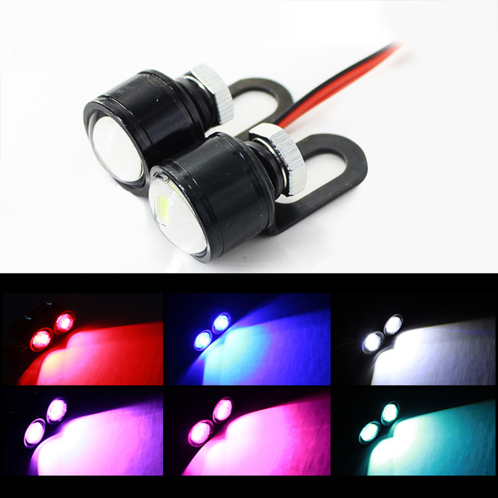 1 Pair LED Strobe Hawkeye DRL Tail Light Backup Lamp Motorcycle Mirrors Mount Eagle Eye Running Lamp High Quality Hot Sale