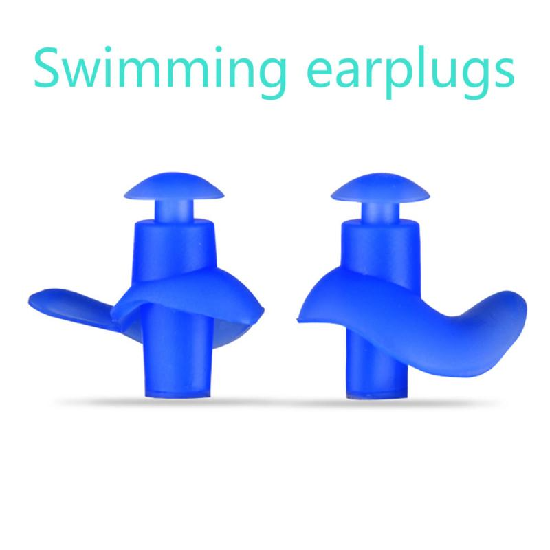 1 Pair Soft Ear Plugs Environmental Silicone Waterproof Dust-Proof Earplugs Diving Water Sports Swimming Accessories New Hot