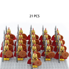 21PC plastic block ancient roman knight minifigure soldier statue building block accessories DIY minifigure superhero set toy