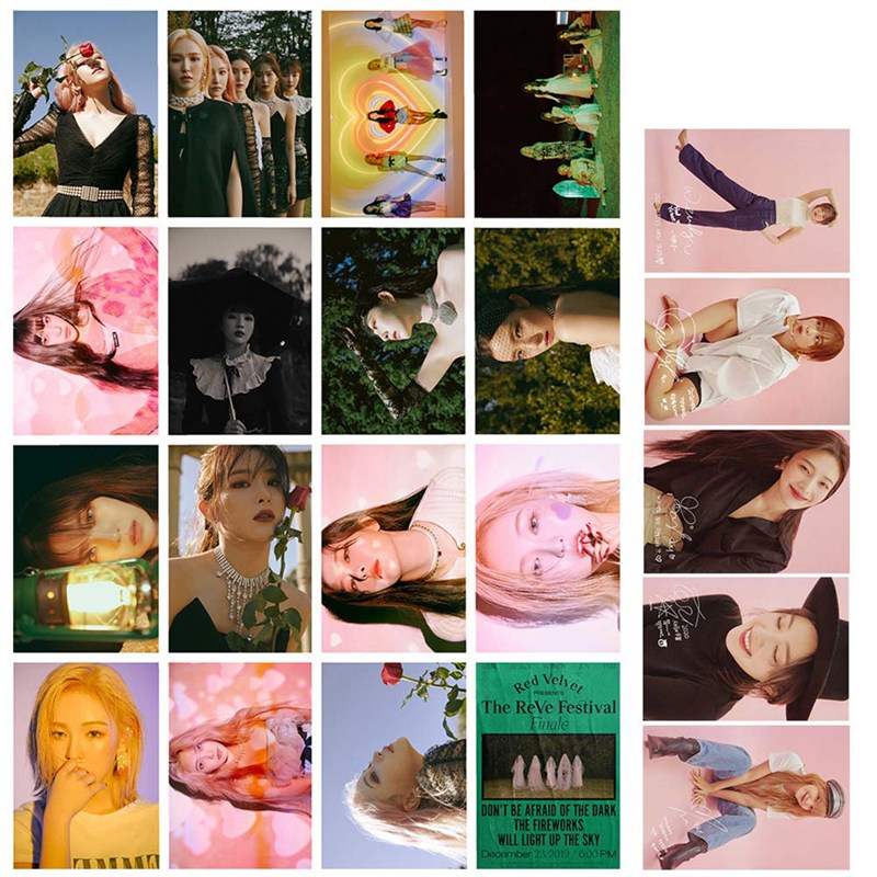 16Pcs/set KPOP Red Velvet Girls Album HD Photo Card PVC Cards Self Made LOMO Card Photocard