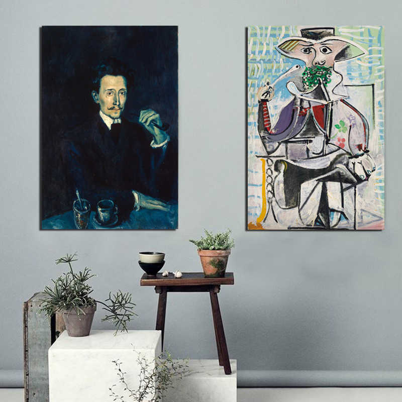Picassoes Artist Abstract Canvas Posters Prints Wall Art Oil Painting Decorative Picture Bedroom Modern Home Decoration