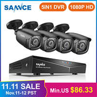 SANNCE RU Freiheit 1080P 4CH Sicherheit CCTV-System 4PCS 1080P Outdoor Wetterfeste Kamera Home Video Überwachung Kamera kit
