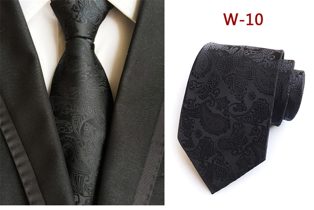 12 Colors Paisley Jacquard Woven Man's Neck Tie Casual Wear Luxury Neckties Mens Ties Bowtie Bow Skinny Tie Gift Fashion 2019