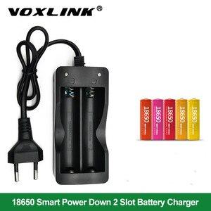 Image 1 - Voxlink 18650 carregador de bateria ue 2slots carregador de bateria recarregável li ion de carregamento inteligente