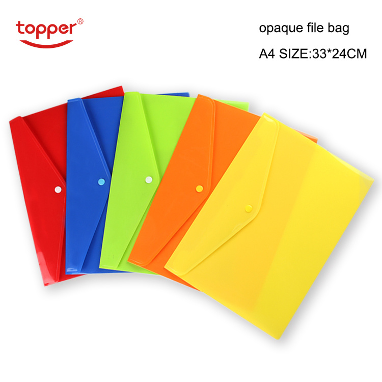 12pcs/set Opaque Plastic A4 Folders File Bag Document Hold Bags Folders Filing Paper Storage Office School Supplies Free Shiping