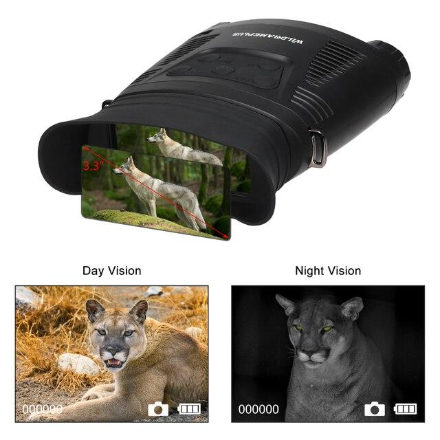 2X IP65 망원경 비디오 재생 쌍안경 방수 야간 버전 범위 8 기가 바이트 250m 야외 사냥 조류 관찰 쌍안경
