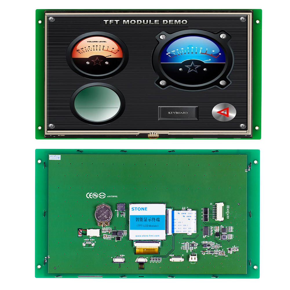 10.1 Inch HMI TFT Display Module 1024*600 With Software+Program Support Any MCU