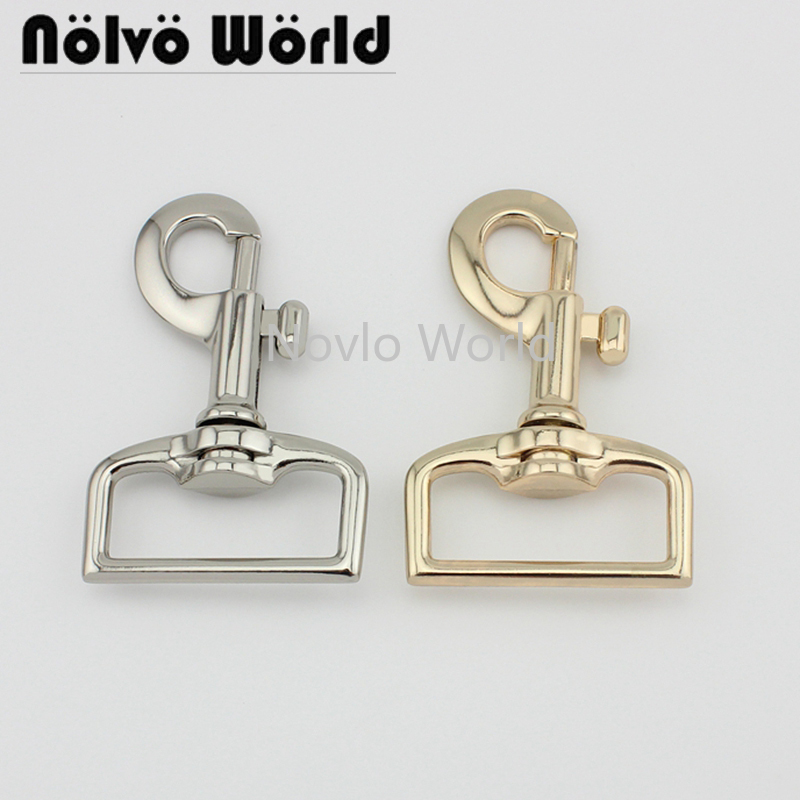 Wholesale 500pcs,7 Colors Accept Mix Color,74*38mm 1-1/2 Inch, Metal Snap Hook Handbag Lobster Buckle Swivel Clasp Hook Hardware