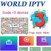 3 dispositivos 8000 mundo iptv m3u iptv eua reino unido espanhol para android iptv m3u enigma2 caixa de tv suporte para computador|Conversor de TV|Eletrônicos -
