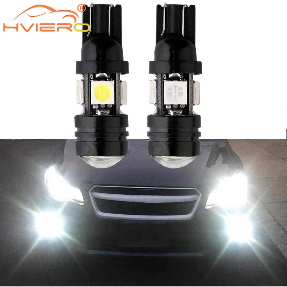 2X 168 192 T10 W5W Car LED 4SMD 5050 3W High Power Super Bright Car Bulbs Auto Lamp Width Lamp License Plate Lens Light Scatter