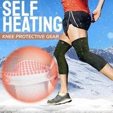 Самонагревающийся браслет сапоги до колена, теплые эластичные наколенники нейлон спортивная Фитнес с заплатами на коленях, Фитнес Шестерни коленный фиксатор для бега Coderas Niño#3