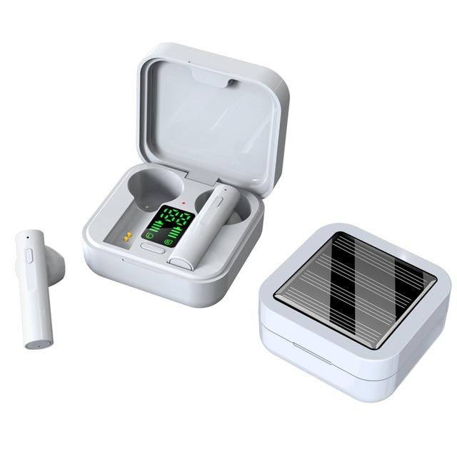 Original AIR6 PLUS earphone Solar Charging TWS Bluetooth headphone LED display mini Ear buds bluetooth 5.0 headset cell phones