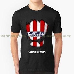 Atleti-nunca conjuntos De Creer , Volveremos camiseta divertida De verano para hombres y mujeres Atlético De Madrid Aupa