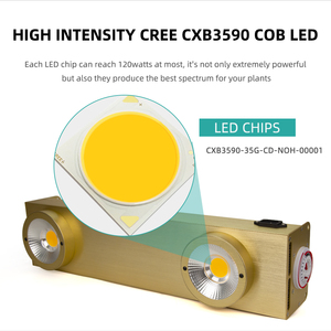 Image 3 - Dimmable Cree CXB3590 COB LED Grow Light Full Spectrum 200W LED Grow Lamp With Timer For Indoor Greenhouse Hydroponic Plant Tent