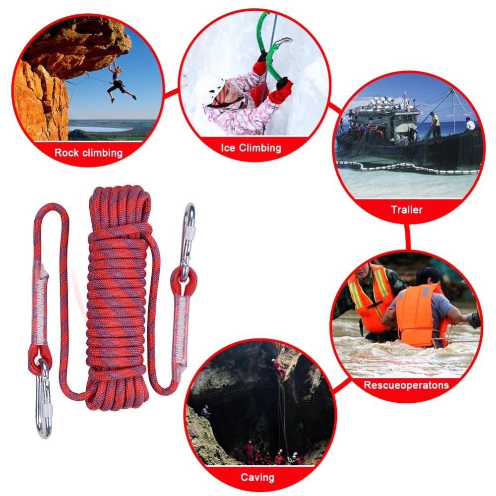 costura 10mm corda de descida aérea seguro anti-queda escalada rop