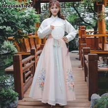 2020 hanfu women ancient chinese costume dress tang dynasty costume oriental costumes folk dress fem