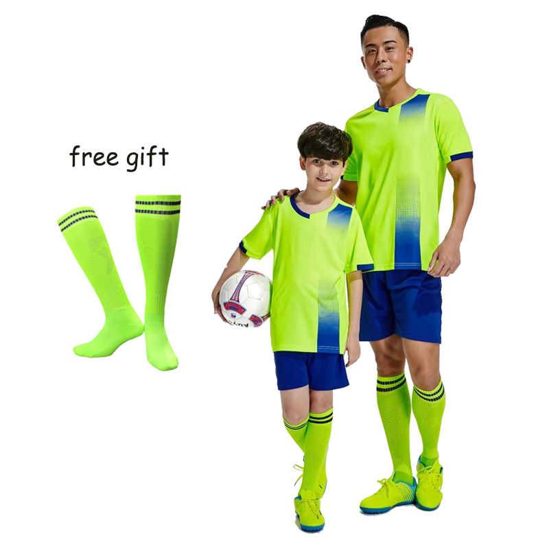 19//20 Football Jersey Soccer Kits Team Club Adult//Kids Short Sleeve Outfits+Sock
