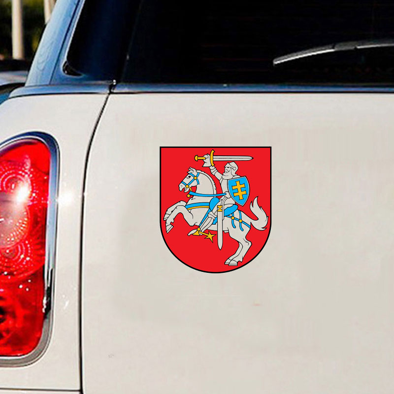National Flag Of Lithuania Window Wall Decal For Car Sticker PVC Waterproof Cool Cars Vinyl Car Wrap Auto Products Accessories